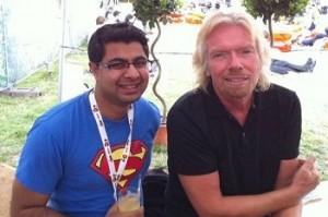 meeting my business idol Sir Richard Branson